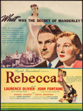 """Movie Posters:Hitchcock, Rebecca (United Artists, 1940). Herald (8.75"""" X 11.75"""") DS. Hitchcock.. ..."""