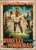 "Movie Posters:Adventure, Appointment in Honduras (RKO, 1954). Italian 2 - Fogli (39"" X 55.25""). Adventure.. ..."