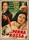 "Movie Posters:Film Noir, The 13th Letter (20th Century Fox, 1951). Italian 2 - Fogli (39"" X55""). Film Noir.. ..."