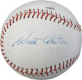 Baseball Collectibles:Balls, Circa 1970's Walt Alston Single Signed Baseball....