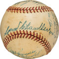 Baseball Collectibles:Balls, 1947 New York Yankees Team Signed Baseball from The Ralph Houk Collection. ...