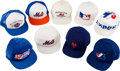 Baseball Collectibles:Balls, 1986 New York Mets, etc. Baseball Caps from The Gary Carter Collection Lot of 9....
