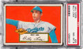 Baseball Cards:Singles (1950-1959), 1952 Topps Billy Loes (Red Back) #20 PSA NM-MT 8....