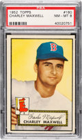 Baseball Cards:Singles (1950-1959), 1952 Topps Charley Maxwell #180 PSA NM-MT 8....