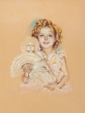 Paintings, Charles Gates Sheldon (American, 1889-1960). Shirley Temple, circa 1935. Pastel on board. 19.25 x 14.5 in. (sight). Not ...