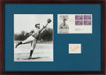 Baseball Collectibles:Others, 1950 Ty Cobb Signed Cut Signature & First Day Cover....