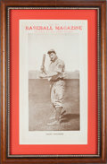 Baseball Collectibles:Others, 1909 Baseball Magazine Advertising Sign Featuring Honus Wagner....