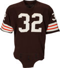 Football Collectibles:Uniforms, 1964 Jim Brown Game Worn Cleveland Browns Jersey....