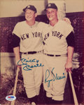 Baseball Collectibles:Photos, 1980's Mickey Mantle & Roger Maris Signed Photograph. ...