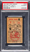 "Baseball Collectibles:Tickets, 1947 ""Babe Ruth Day"" New York Yankees Ticket Stub...."