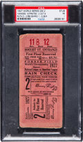 Baseball Collectibles:Tickets, 1927 World Series Game Two Ticket Stub....