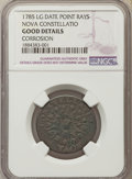 1785 C NOVA Nova Constellatio Copper, Pointed Rays, Large Date -- Corrosion -- NGC Details. Good. NGC Census: (1/119). P...
