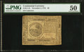 Colonial Notes:Continental Congress Issues, Continental Currency November 2, 1776 $6 PMG About Uncirculated50.. ...
