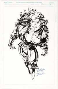 Tom Morgan - Rogue and Jubilee Illustration Original Art Group of 2 (1997).... (Total: 2 Original Art)