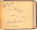 Baseball Collectibles:Others, 1951 Baseball Hall of Famers & Stars Signed Autograph Book withApproximately 200 Signatures....