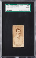 Baseball Cards:Singles (Pre-1930), 1888 E223 G&B Chewing Gum Jim O'Rourke SGC 10 Poor 1. ...