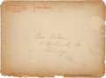 "Baseball Collectibles:Others, Rare 1880's Goodwin & Co. Mailing Envelope for ""Sports &Games Album.""..."