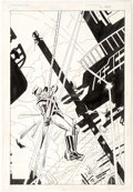 Original Comic Art:Covers, Trevor Von Eeden and Dick Giordano Green Arrow #4 Cover Original Art (DC, 1893)....