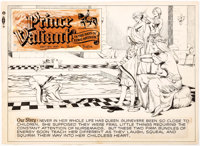 Hal Foster Prince Valiant Partial Sunday Comic Strip Original Art (King Features Syndicate, undated)