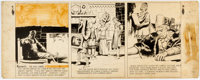 Hal Foster Prince Valiant Sunday Comic Strip Panel Original Art dated 12-22-46 (King Features Syndicate, 1946)