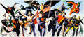 Memorabilia:Comic-Related, Alex Ross The Justice Society: The Golden Age Signed Limited Edition Print #426/500 (Warner Brothers, 1997)....