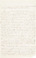 Autographs:Military Figures, Period Fair Copy in a Secretarial Hand of General George Meade's April 16, 1865 Address to the Officers and Soldiers of th...