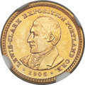 Commemorative Gold, 1905 G$1 Lewis and Clark Gold Dollar MS66 NGC....