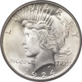 Peace Dollars, 1924 $1 MS67 PCGS. CAC....