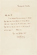 Autographs:Authors, William Makepeace Thackeray Autograph Letter Signed. ...