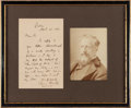 Autographs:Authors, Poet and Journalist Edwin Arnold Autograph Letter Signed....