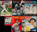 Baseball Collectibles:Publications, Baseball Greats Signed Vintage Magazines Lot of 13. ...