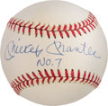 "Baseball Collectibles:Balls, 1980's Mickey Mantle ""No. 7"" Single Signed Baseball...."