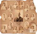 Baseball Collectibles:Photos, 1903 Philadelphia Phillies Photographic Composite Display by CarlHorner....