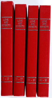 Love and Rockets #1-50 Bound Volume Group of 4 (Fantagraphics Books, 1981-96).... (Total: 4 Items)