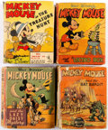 Big Little Book:Miscellaneous, Big Little Book Mickey Mouse Related Group of 7 (Whitman, 1930s-80)Condition: Average VG.... (Total: 7 Comic Books)