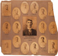 Baseball Collectibles:Photos, 1903 Philadelphia Athletics Photographic Composite Display by CarlHorner....