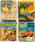 Big Little Book:Miscellaneous, Donald Duck Big Little Book Group of 8 (Whitman, 1946-75)Condition: Average VG.... (Total: 8 Items)