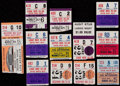Baseball Collectibles:Tickets, 1962-68 Houston Colt 45's/Astros Ticket Stub Collection (30)....