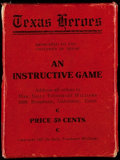 Non-Sport Cards:Singles (Pre-1950), 1907 Texas Heroes Game Card Set. ...