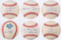Autographs:Baseballs, Collection of New York Yankees Single Signed Baseballs (6) -Including Torre, Soriano, O'Neill, Bouton, & Henrich....