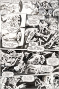 Original Comic Art:Panel Pages, Steve Bissette and John Totleben Saga of the Swamp Thing #19Page 20 Original Art (DC, 1983)....