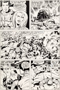Original Comic Art:Panel Pages, Jack Kirby and D. Bruce Berry Kamandi, the Last Boy on Earth#22 Page 6 Original Art (DC, 1974)....