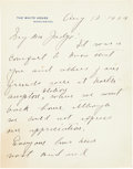 Autographs:U.S. Presidents, Calvin Coolidge Autograph Letter Signed as President.... (Total: 3Items)