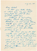 Autographs, [John F. Kennedy Assassination]. Lee Harvey Oswald Autograph Letter Signed. ...