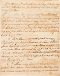 Autographs, [Treaty of Paris]. Thomas Digges Handwritten Report to Lord Shelburne. ...