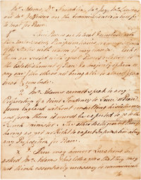 [Treaty of Paris]. Thomas Digges Handwritten Report to Lord Shelburne