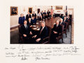 Autographs:U.S. Presidents, Bill Clinton and His First Cabinet Photograph Signed by All. ...