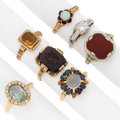 Estate Jewelry:Lots, Diamond, Multi-Stone, Gold Rings. ... (Total: 7 Items)
