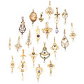 Estate Jewelry:Pendants and Lockets, Multi-Stone, Seed Pearl, Gold Pendants. ... (Total: 20 Items)