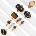 Estate Jewelry:Lots, Diamond, Multi-Stone, Enamel, Platinum-Topped Gold, Gold Rings. ...(Total: 10 Items)